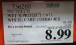 No Touch Wet N Protect & All Wheel Care Combo 4 Pack Costco Price