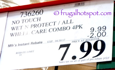 No Touch Wet 'N Protect Wheel Care | Costco Sale Price