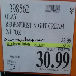 Olay Regenerist Night Recovery Cream Costco Price