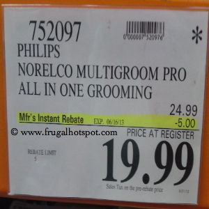 Philips Norelco QG3270 Multigroom Pro Costco Price