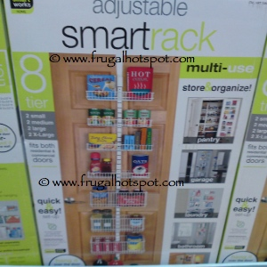 SmartWorks Adjustable SmartRack Door Rack Organizer