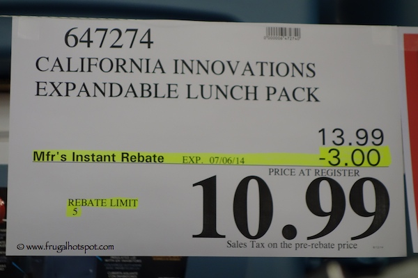 Cal Innovations Arctic Zone Expandable Lunch Kit Costco Price
