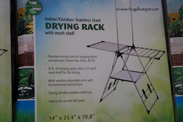 Greenway Clothing Drying Rack with Mesh Shelf Costco