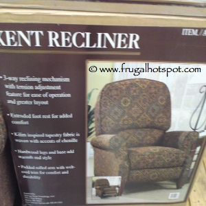 Kent Recliner by Synergy Home Furnishings Costco