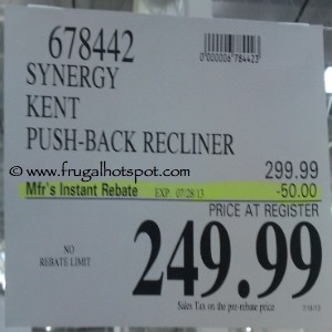 Kent Recliner by Synergy Home Furnishings Costco Price