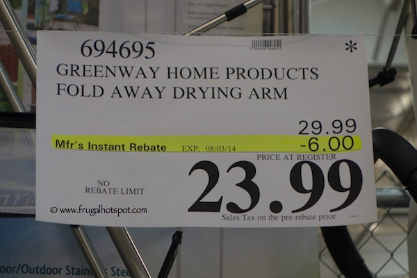 Greenway Home Products Fold Away With Drying Arm Costco