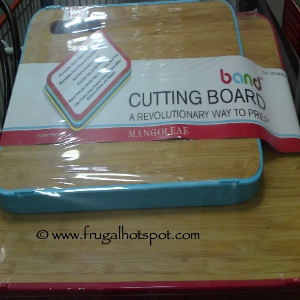 MangoLeaf 2-Pack Bamboo Cutting Boards with Silicone Band Costco