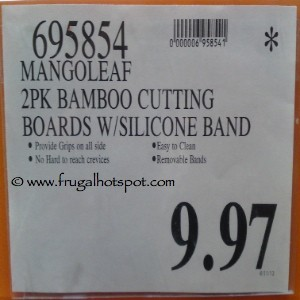 MangoLeaf 2-Pack Bamboo Cutting Boards with Silicone Band Costco Price