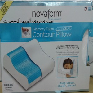Novaform Memory Goam Cooling Gel Contour Pillow