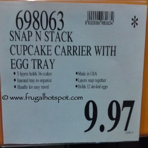 Snap N Stack Cupcake Carrier with Egg Tray Costco Price