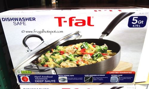 T-Fal 5 Quart/ 4.73 L Hard Anodized Covered Deep Saute Pan Costco