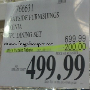 Bayside Furnishings Xenia 7 Piece Dining Set Costco Price