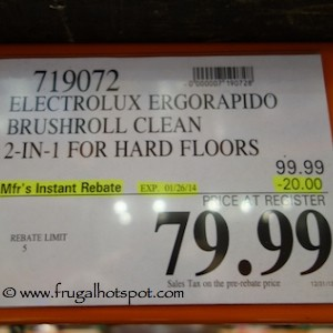 Electrolux Ergorapido Brushroll Clean Vacuum Costco Price
