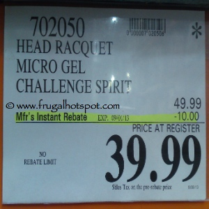 Head Microgel Challenge Spirit Tennis Racquet Costco Price