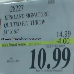 Kirkland Signature Quilted Pet Throw Costco Price
