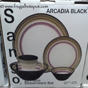 Sango 20 Piece Arcadia Black Dinnerware Set
