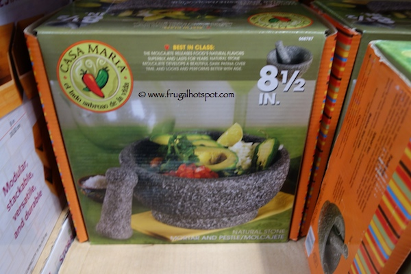 Casa Maria Natural Stone Mortar & Pestle Costco