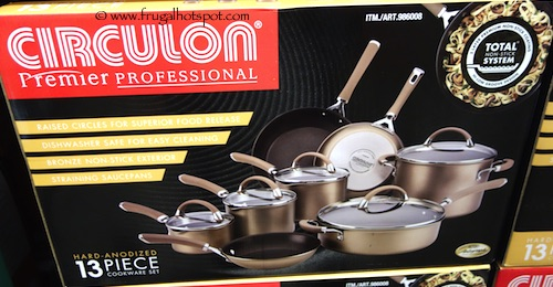 Circulon Premier Professional Hard-Anodized Chocolate Cookware 13-Piece Set Costco
