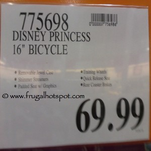 """Disney Princess 16"""" Bicycle by Huffy Costco Price"""