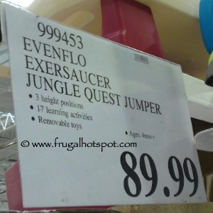 Evenflo ExerSaucer Jungle Quest Jumper Costco Price