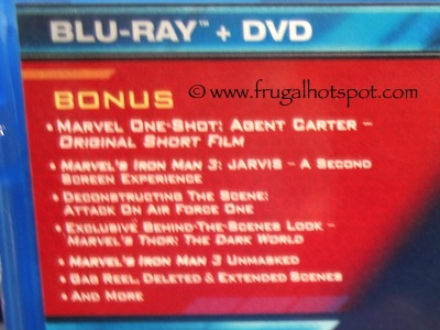 Marvel Iron Man 3 Blu-ray / DVD / Digital Copy Costco / Frugal Hotspot
