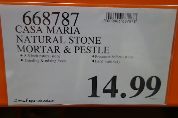 Casa Maria Natural Stone Mortar & Pestle Costco Price