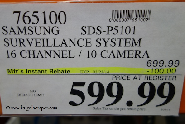 Samsung Complete All in One Security Surveillance System Costco Price