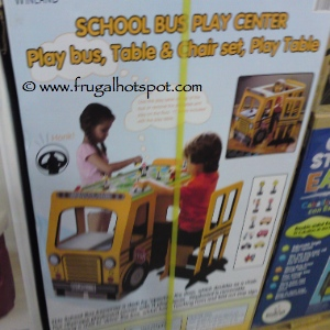 Kenyield School Bus Play Center, with Table & Chair Costco