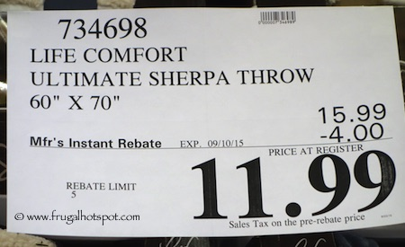 Life Comfort Ultimate Sherpa Throw Costco Price