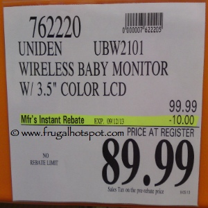 Uniden Advanced Digital Wireless Baby Monitor Costco Price