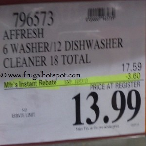 Affresh Washer and Dishwasher Cleaner Costco Price