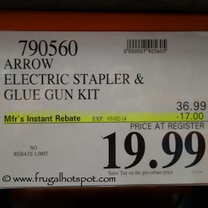 Arrow Electric Stapler & Glue Gun Kit Costco Price