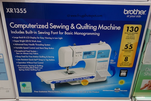 Brother Computerized Sewing & Quilting Machine XR1355 Costco