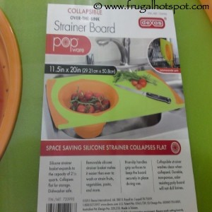 Dexas Collapsible Over-The-Sink Strainer Cutting Board