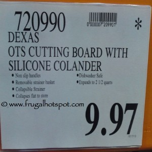 Dexas Collapsible Over-The-Sink Strainer Cutting Board Costco Price