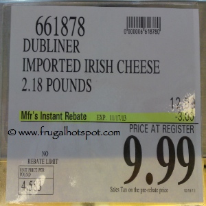 Kerrygold Dubliner Cheese Costco Sale Price