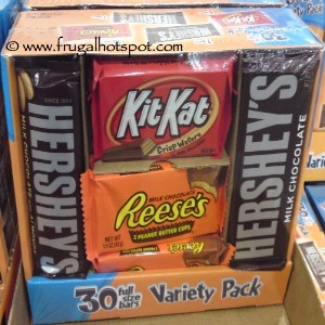 Hershey Full Size Candy Bars 30 Count Variety Pack