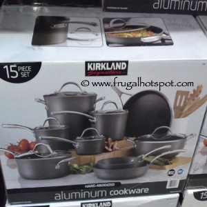 Kirkland Signature Hard Anodized Aluminum Cookware 15 Piece Set Costco