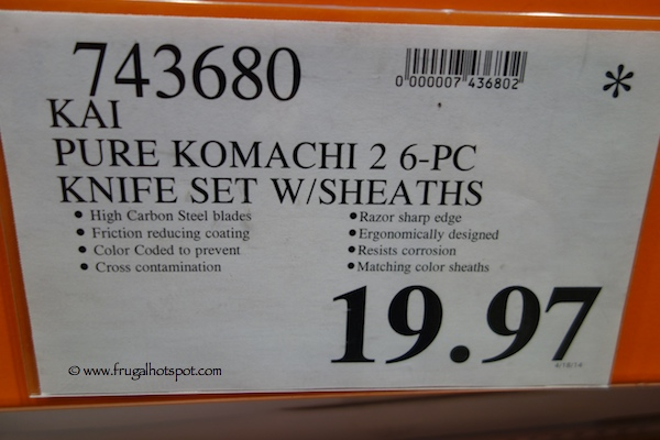 Kai Pure Komachi 2 6-Piece Knife Set with Sheaths Costco Price