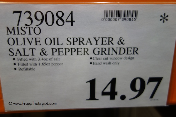 Misto Olive Oil Sprayer & Salt & Pepper Grinder Costco Price
