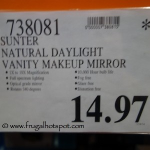 Sunter Natural Daylight Vanity Makeup Mirror Costco Price