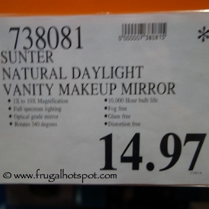 Costco Clearance Sunter Natural Daylight Lighted Vanity