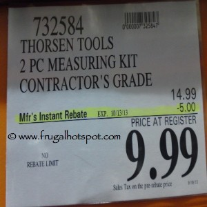 Thorsen Tools 2 Piece Contractor's Grade Measuring Kit Costco Price