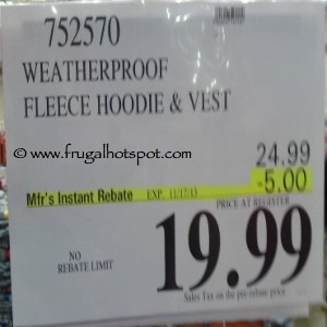 Weatherproof Fleece Hoodie & Vest Costco Price