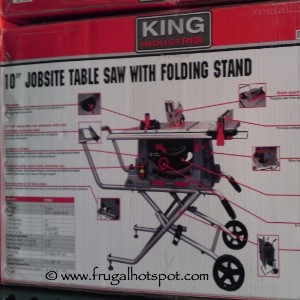 "King Industrial 10"" Jobsite Table Saw with Folding Stand"