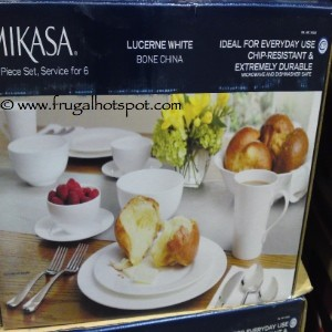 Mikasa Lucerne White Bone China 37 Piece Set, Service for 6
