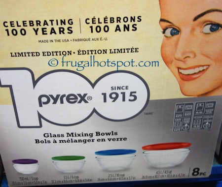 Pyrex Limited Edition 8 Piece Glass Mixing Bowl Set Costco | Frugal Hotspot