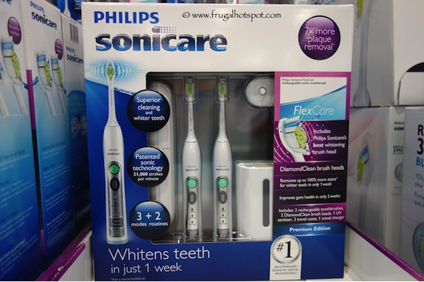 Next up Costco has two coupons located in their month flyer that you can pick up at the front of the store. These include a $40 off voucher that can be redeemed when you purchase two Sonicare Flexcare whitening edition toothbrushes and $10 off a Philips Sonicare replacement brush heads.