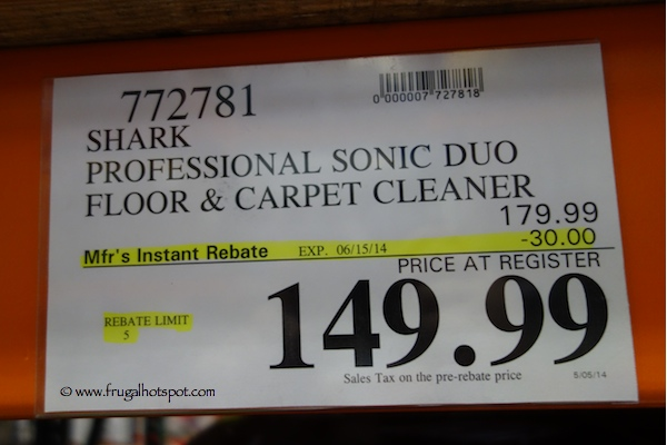 Shark Sonic Duo Pro Hard Floor Cleaner Costco Price