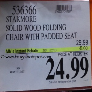 Stakmore Solid Wood Folding Chair Costco Price